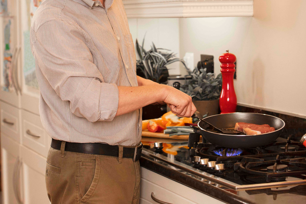 Cooking on calor gas