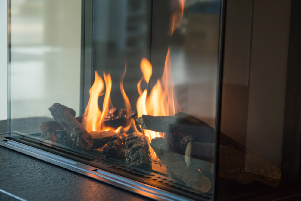 Calor gas fired fireplace